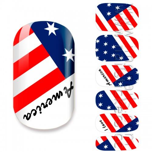 NATIONAL FLAG / USA FLAG / AMERICAN FLAG JAMBERRY NAIL WRAPS