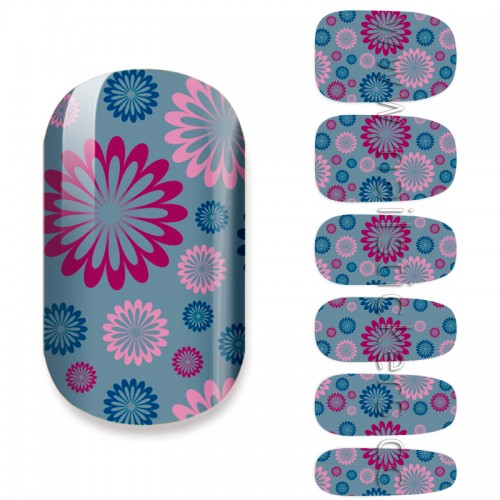 NAIL ART ABSTRACT FLOWERS NAIL STICKER