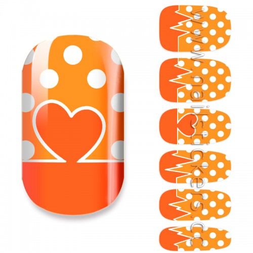 HEART BEAT NAIL ART IDEAS FOR STUDENTS