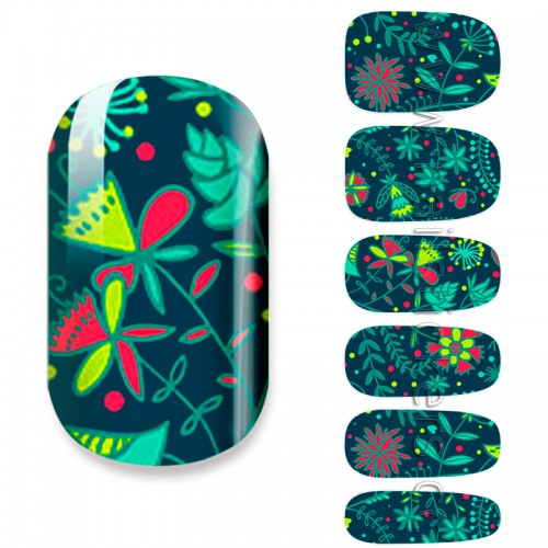 ABSTRACT UNDER SEA NAIL ART STICKER