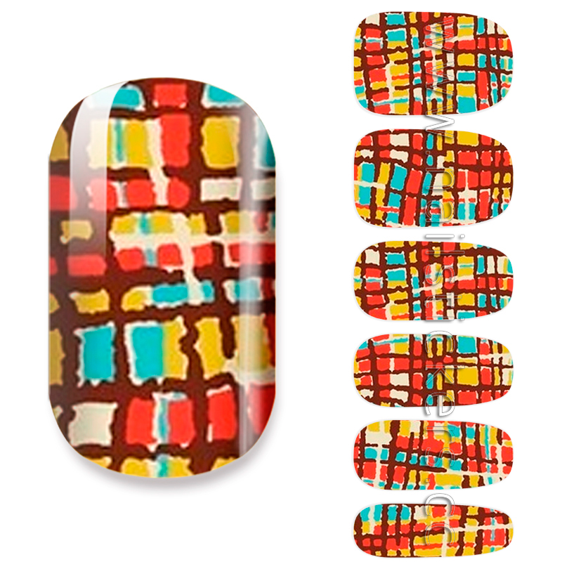 ABSTRACT NAIL ART STICKER NAIL POLISH