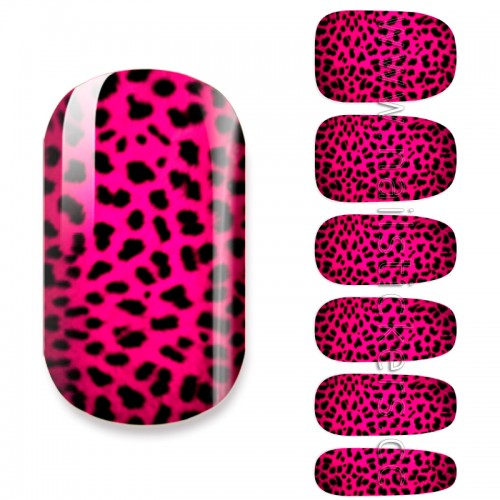 RED LEOPARD NAIL WRAP