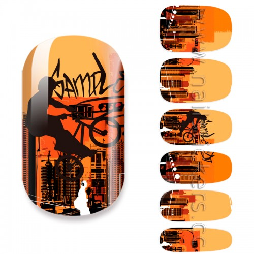 CITY OF SUNSET NAIL WRAPS