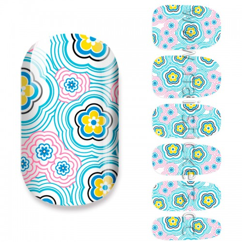 ABSTRACT FLOWERS NAIL POLISH STRIPS
