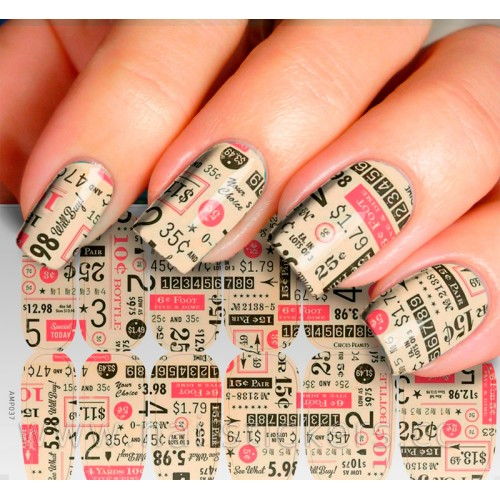 NAIL WRAP FOR INSTANT NAIL ART CHARACTER