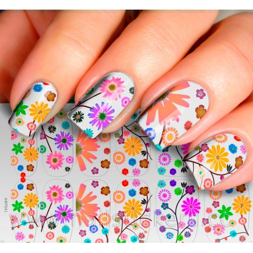 FLOWERS NAIL PATCH FOR NAIL ART