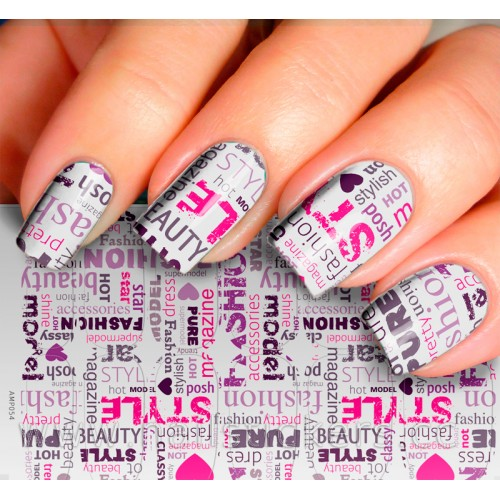FASHION WORDS NAIL ART FOR PARTY