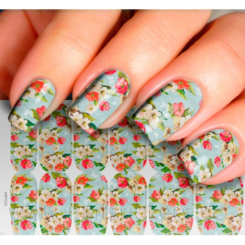 FLOWERS NAIL ART FOR PRETTY WOMAN NAILS STICKER