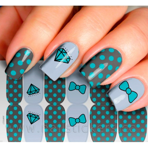 DIAMONDS NAIL WRAPS FOR MANICURE