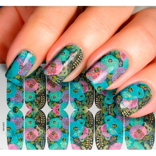 NAIL WRAPS VARIOUS CORAL LIFE UNDER SEA HIGH RESOLUTION