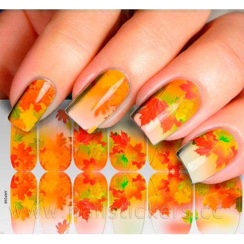 MAPLE LEAVES MANI WHOLESALE NAIL WRAPS